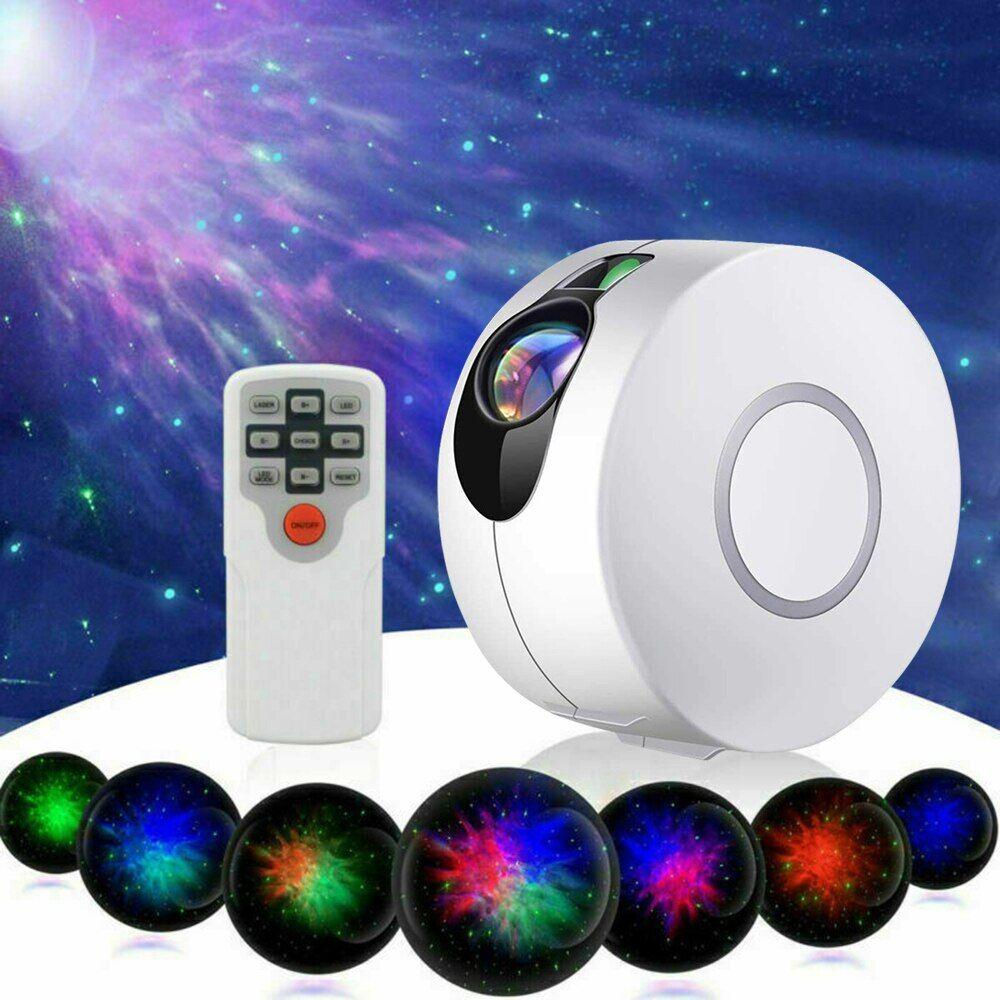 AliExpress Projecteur LED de ciel étoilé 7 couleurs, lampe de nuit rotative pour décoration de chambre à