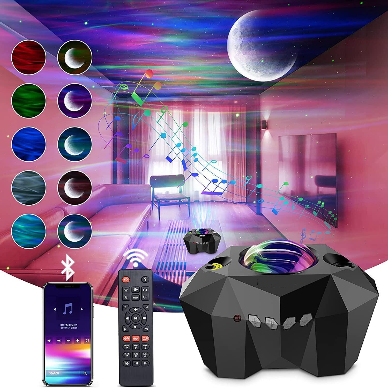 AliExpress Projecteur Laser de galaxie, Bluetooth, musique, ciel étoilé, lumière d'ambiance, lampe de chevet de