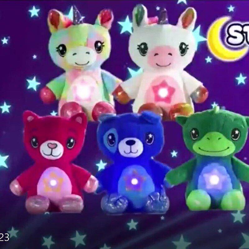 AliExpress Animal en peluche avec projecteur lumineux en étoile, jouet réconfortant, veilleuse, ventre de rêve,