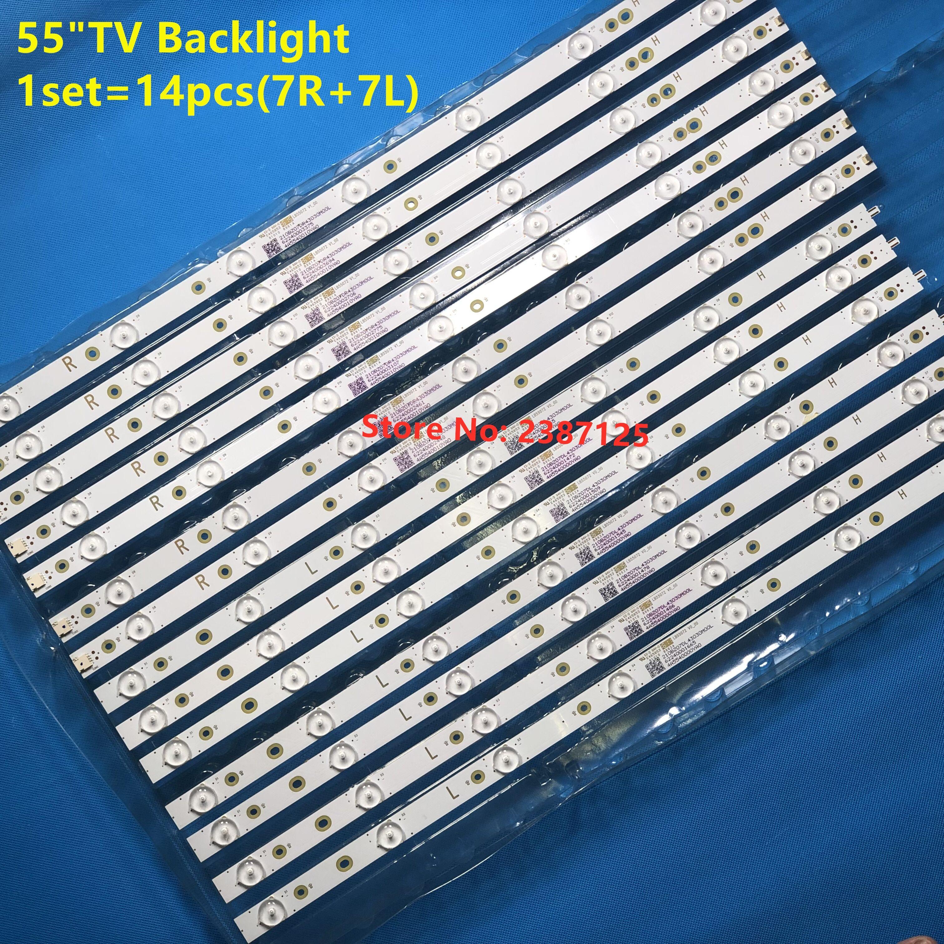 AliExpress 14 PIÈCES (7R + 7L) Pour 55 'TV LED bande de RTRO-CLAIRAGE 55PFF5701/T3 LB55072 55PUS6501/12