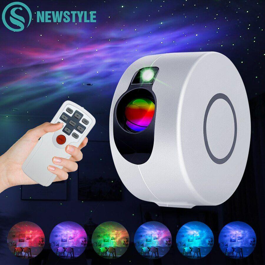 AliExpress Projecteur d'étoiles, lumière colorée, nuage de nébuleuse, veilleuse de nuit, galaxie, étoile