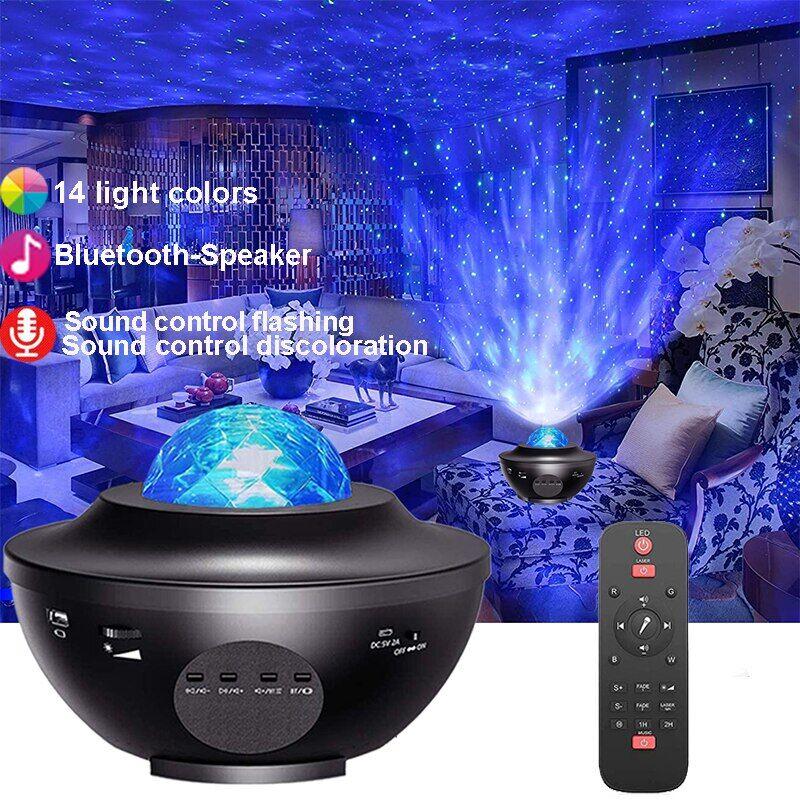 AliExpress Projecteur Led de ciel étoilé, galaxie, haut-parleur Bluetooth intégré, pour décoration de chambre à