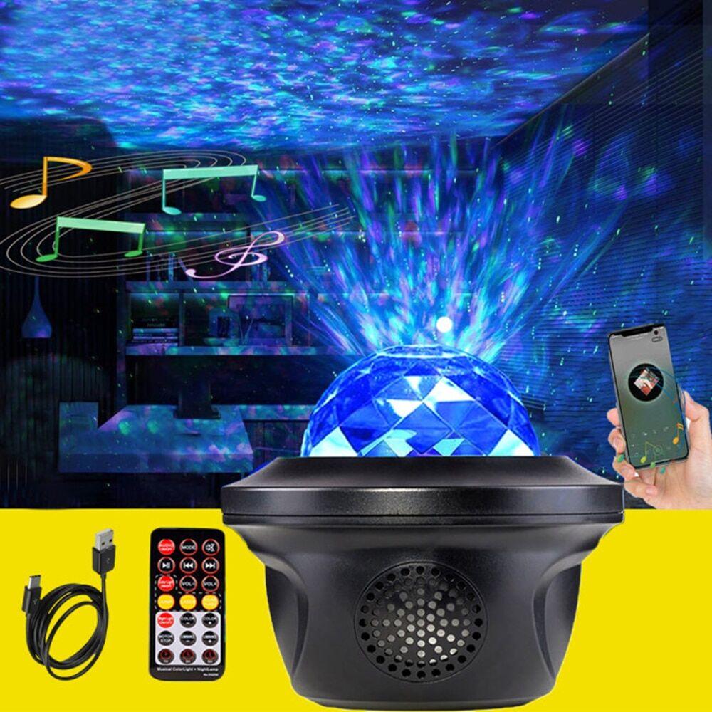 AliExpress Projecteur de ciel étoilé et galaxie coloré pour enfant, haut-parleur musical, lampe de chambre à