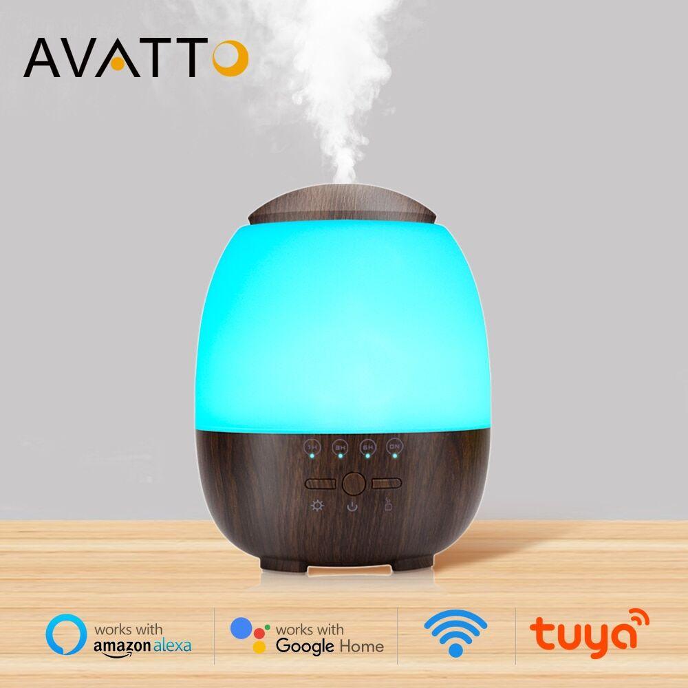 AliExpress AVATTO – humidificateur WiFi avec lampe LED, diffuseur d'huile essentielle, brumisateur 300ML,
