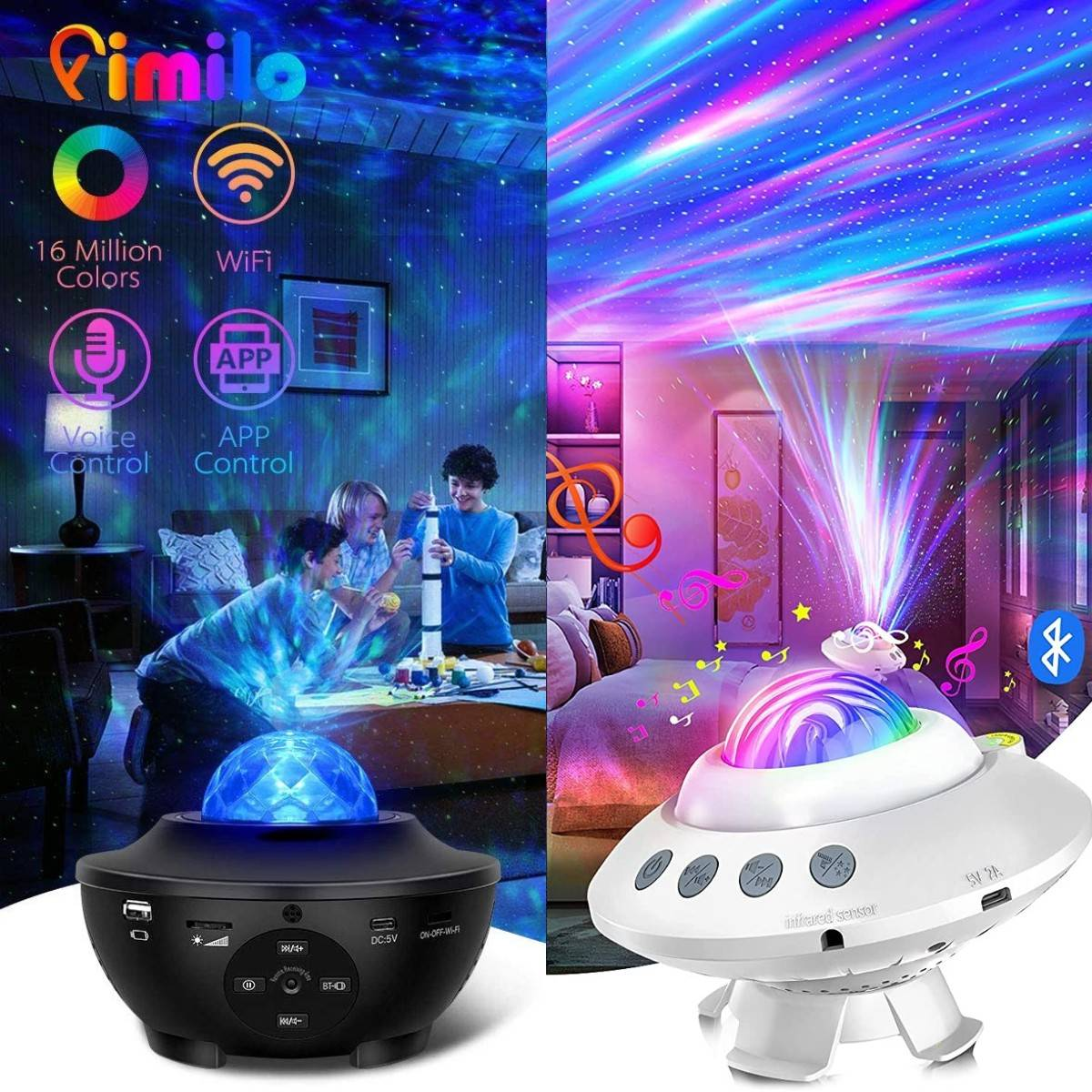 AliExpress Projecteur LED de ciel étoilé rotatif, galaxie, vagues de l'océan, luminaire décoratif de couleur,