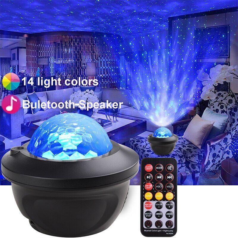 AliExpress Projecteur LED de ciel étoilé, galaxie, haut-parleur Bluetooth intégré, luminaire décoratif