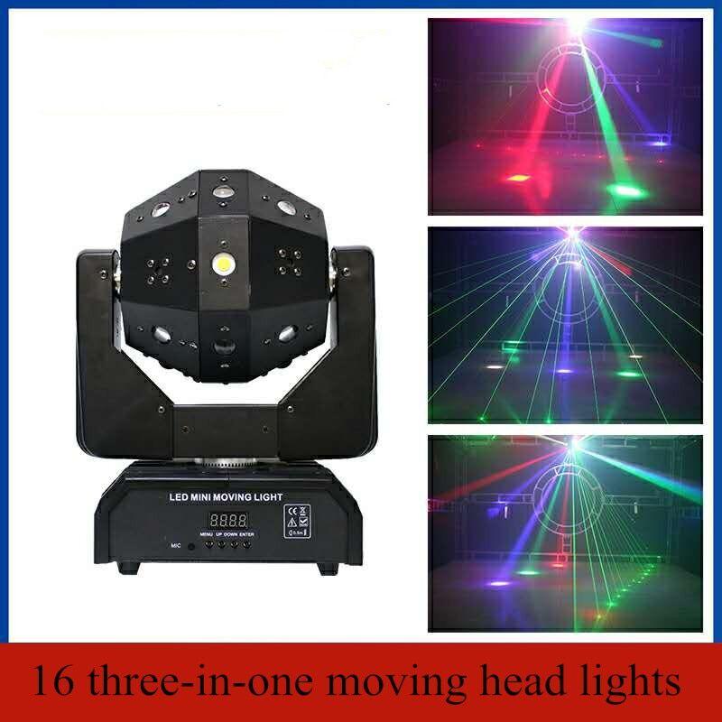 AliExpress Boule de lumière laser à mini têtes mobiles LED, en rouleau de football, 3 en 1, têtes mobiles DMX à