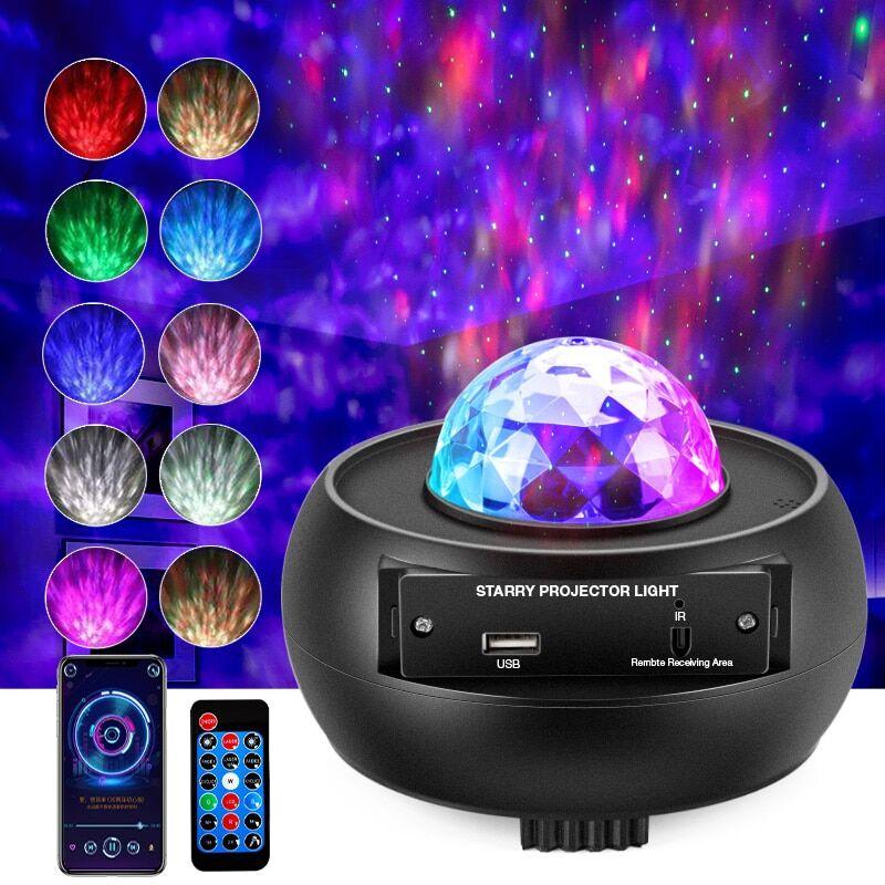 AliExpress Projecteur de nuit ciel étoilé et galaxie pour enfant, lampe colorée, bluetooth, USB, lecteur de