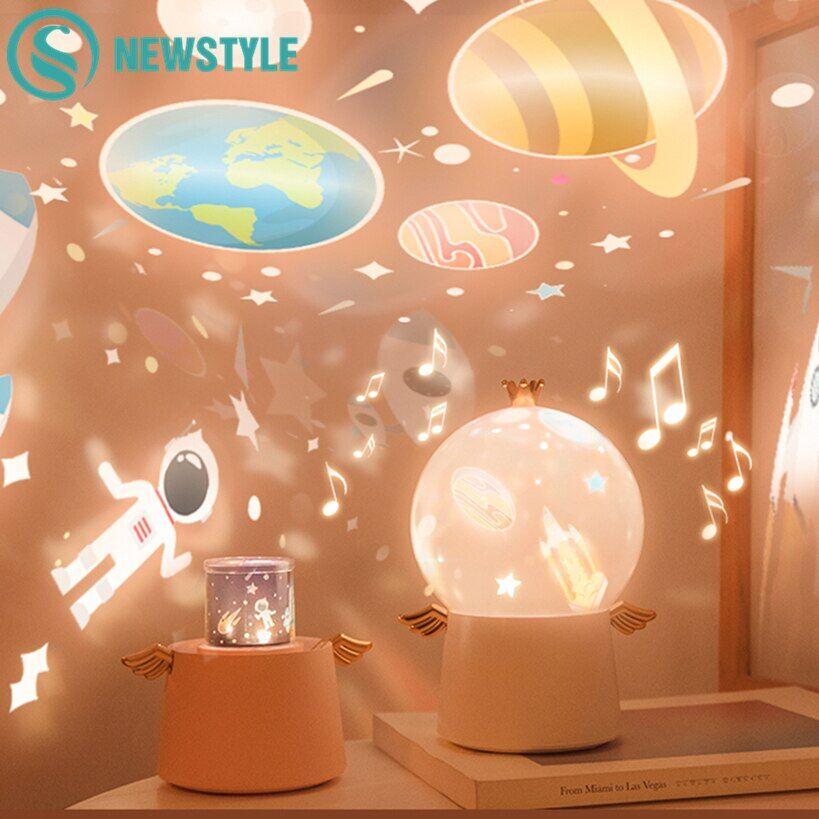 AliExpress Projecteur de ciel étoilé, boîte à musique d'angle rechargeable, rotation de l'univers Ocaen, étoile