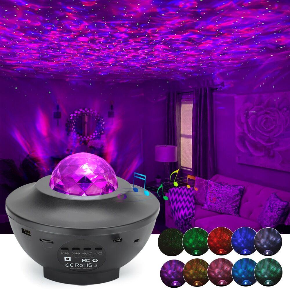 AliExpress Projecteur LED couleur ciel étoilé, galaxie, USB, bluetooth, lecteur de musique, veilleuse, cadeau
