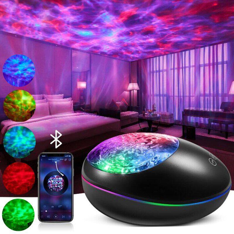 AliExpress Projecteur LED rotatif coloré ciel étoilé, lumière de galaxie, veilleuse Bluetooth musique,