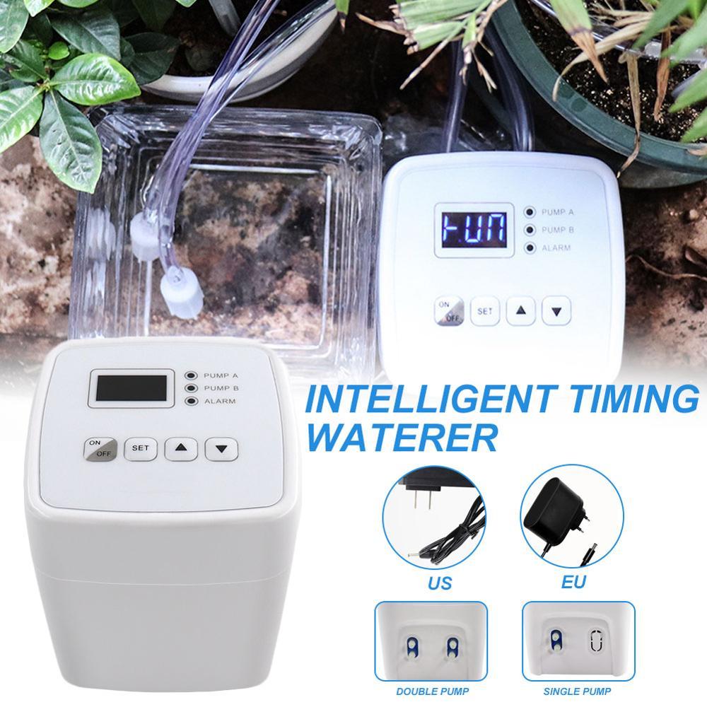 AliExpress Dispositif d'arrosage automatique pour plantes en pot, Double pompe, minuterie intelligente,