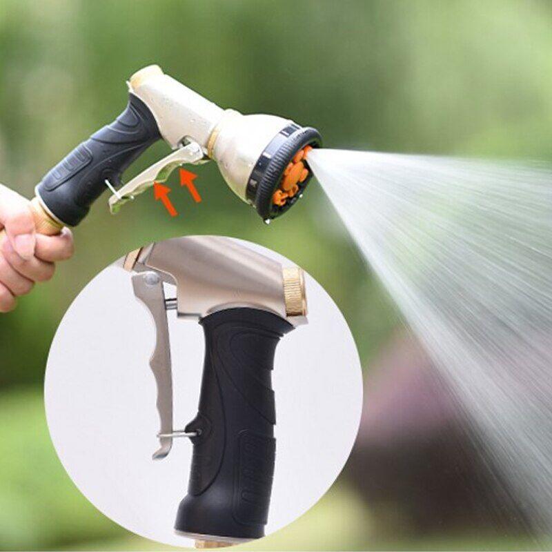 AliExpress Pistolet de pulvérisation d'eau haute pression, buse réglable Portable, tuyau de pelouse, lave-linge