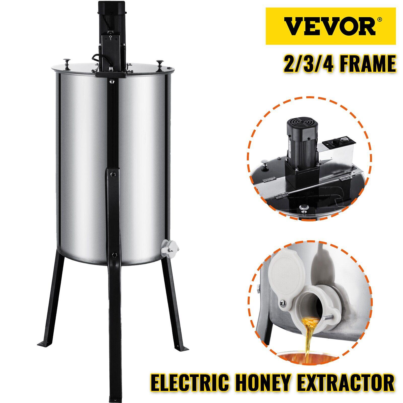 AliExpress VEVOR – extracteur de miel électrique, cadre 2 3 4, en acier inoxydable, Spinner à nid d'abeille,