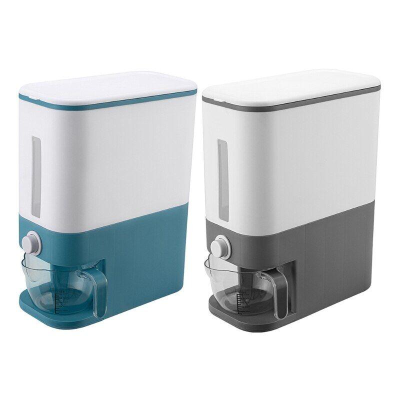 AliExpress Boîte distributrice hermétique de 12KG, seau de riz Transparent et Visible, résistant à l'humidité,
