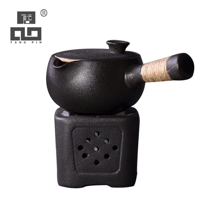 AliExpress TANGPIN – théière japonaise en céramique noire, bouilloire à thé kung fu chinoise, verres de 500ml