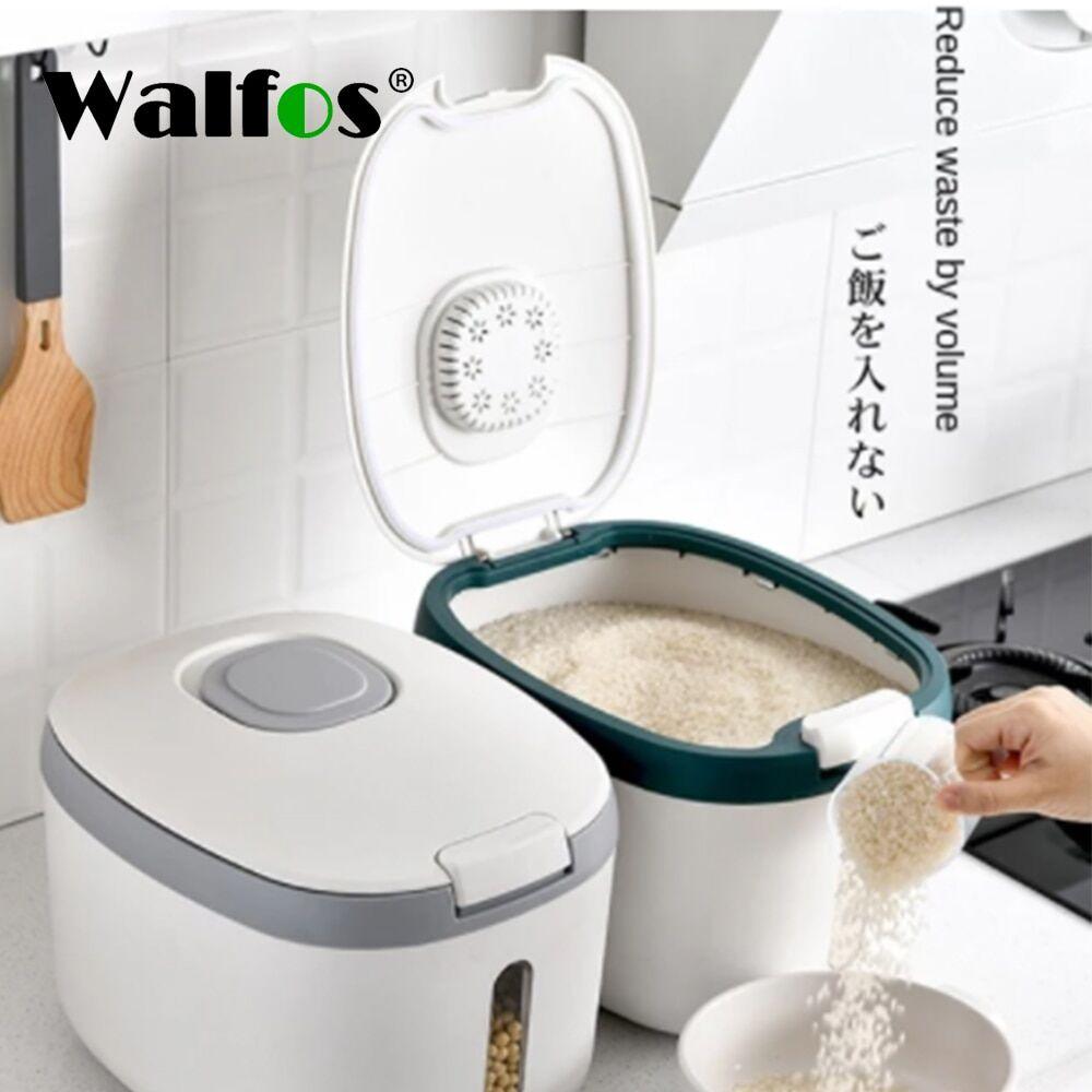 AliExpress Walfos – seau de riz cylindre 5l/10l, récipient de stockage des aliments pour animaux de compagnie,