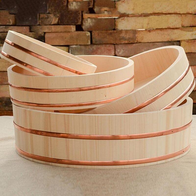 AliExpress Bibimbap seau à Sushi en bois de pin blanc, bol de Cuisine japonaise
