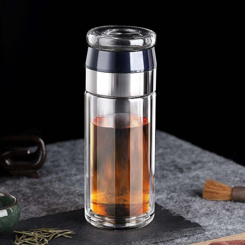 AliExpress Bouteille en verre avec infuseur à thé, avec filtre de séparation du thé, à Double paroi, étanche,