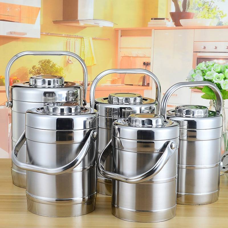 AliExpress Boîte à déjeuner isotherme de grande capacité en acier inoxydable, conteneur alimentaire thermique