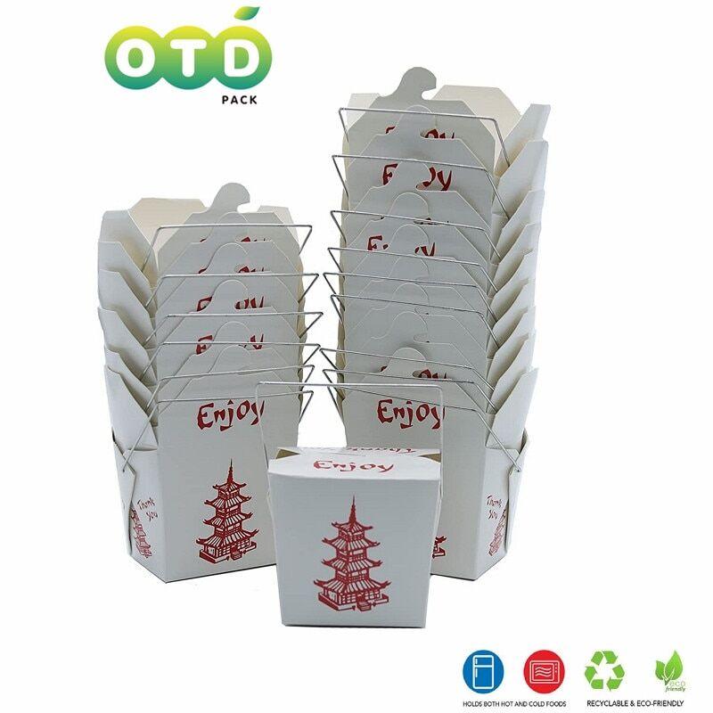 AliExpress Boîtes à nouilles jetables avec poignées en fil pagode, conteneurs alimentaires à emporter chinois,