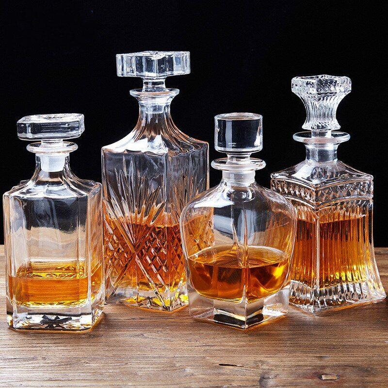 AliExpress Bouteille de Whisky et de vin rouge de 500 à 700ml, style européen, pour le réveil, en cristal, sans