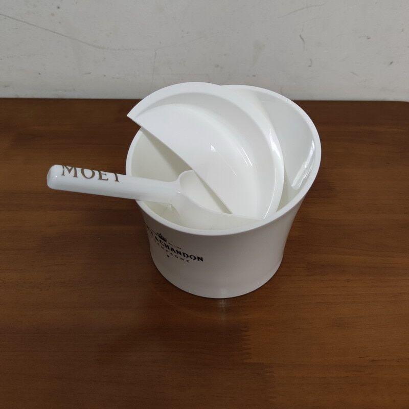 AliExpress Wihte – seau à glace en plastique avec pince, avec cuillère
