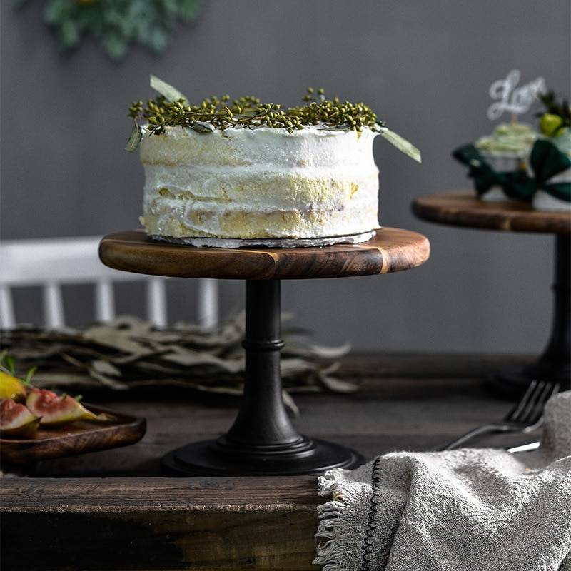 AliExpress Support d'assiettes à gâteaux en bois, plateau à cupcakes à Base haute, accessoires de tournage de