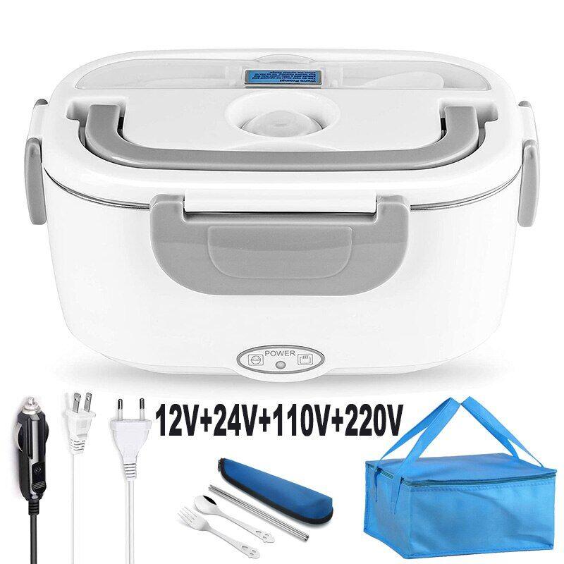 AliExpress Boîte à déjeuner chauffante électrique en acier inoxydable 2 en 1 110V 220V 12V 24V, boîte à Bento