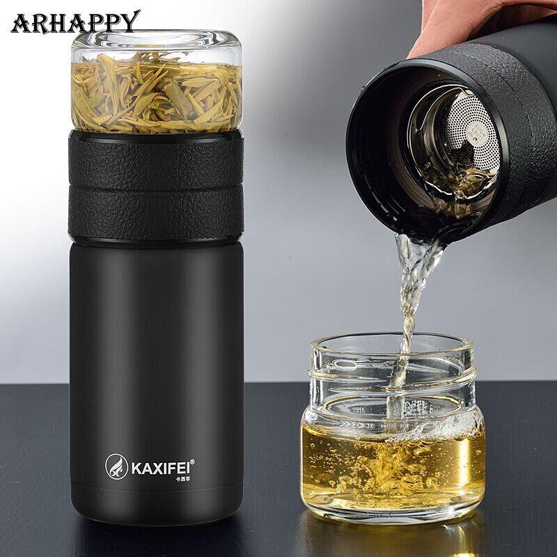 AliExpress Bouteille isotherme Portable de 600ML en acier inoxydable 304, infuseur à thé, tasse sous vide, avec