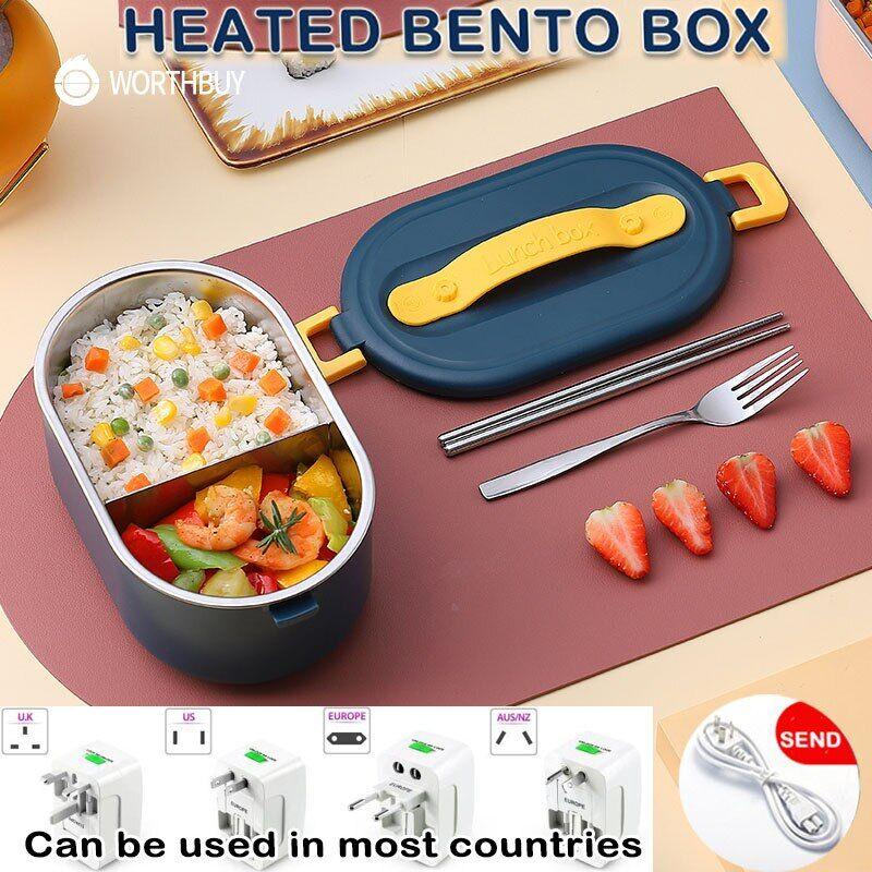 AliExpress WORTHBUY – boîte à Bento chauffante en acier inoxydable, boîte à déjeuner chauffante électrique,