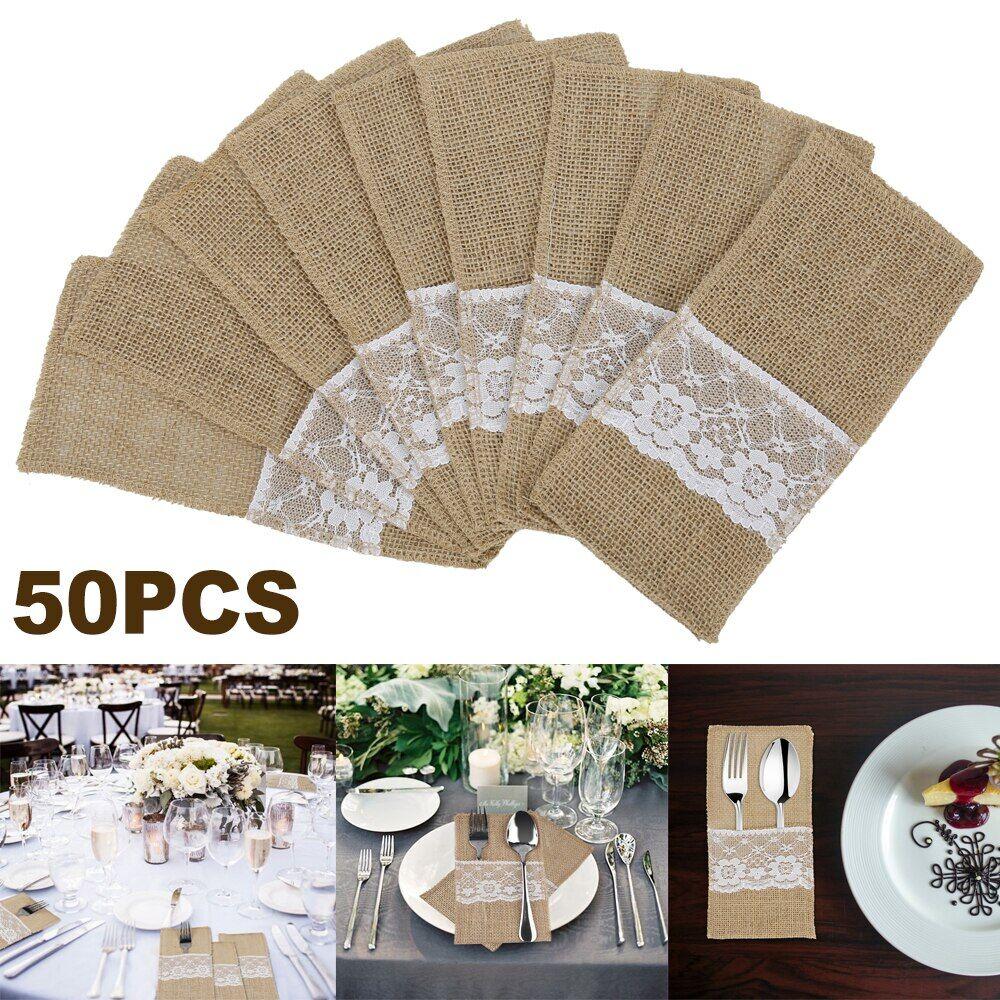 AliExpress 50 pièces Cuisine Poches À Vaisselle Sac Fête Mariage Décoration Table À Manger Décor Belle Europe
