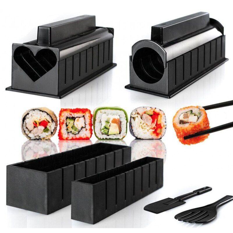 AliExpress Kit de fabrication de Sushi, 10 pièces, en plastique, japonais, Onigiri, moule à riz, accessoires de