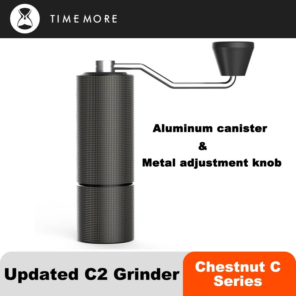 TIMEMORE – moulin à café manuel châtaitain C2, Portable, de haute qualité, avec Double roulement et