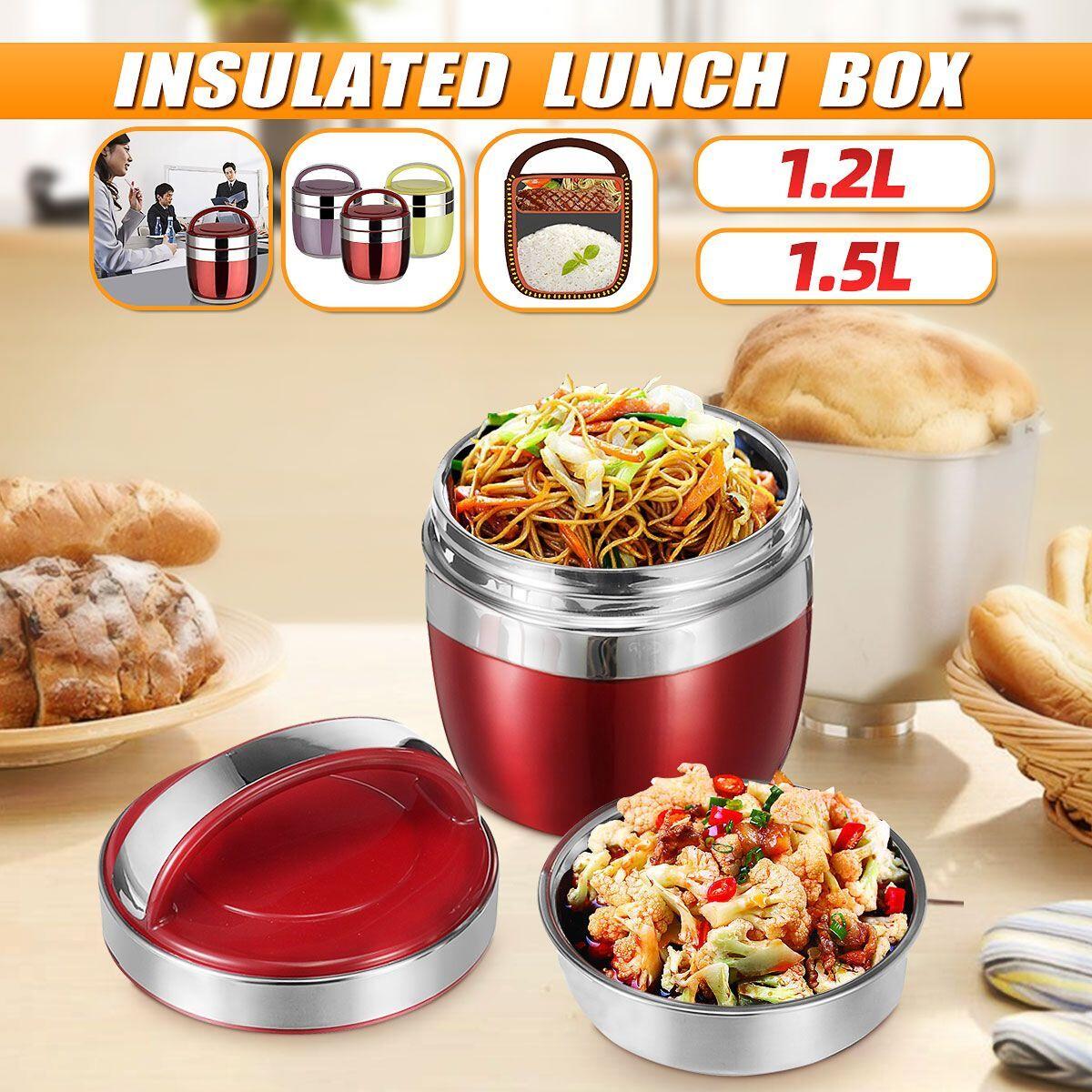 AliExpress Thermos alimentaire en acier inoxydable 1.5/l, boîte à déjeuner sous vide 12-24 heures, récipient