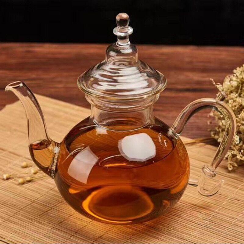 AliExpress Service à thé en verre filtré, résistant aux hautes températures, théière à fleurs, profil de