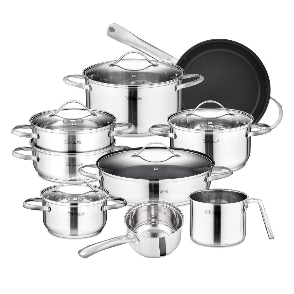 AliExpress Velaze Miki – ensemble d'ustensiles de cuisine en acier inoxydable, casseroles, poêles à frire