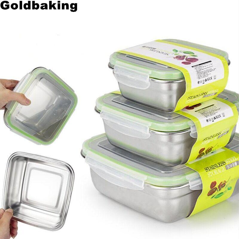 AliExpress Conteneurs alimentaires en acier inoxydable, boîte de rangement des aliments, boîte à déjeuner