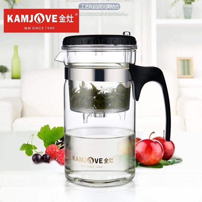 AliExpress Kamjove – théière Kungfu Piao Yi en verre, résistant à la chaleur, tasse et théière d'art, TP-200