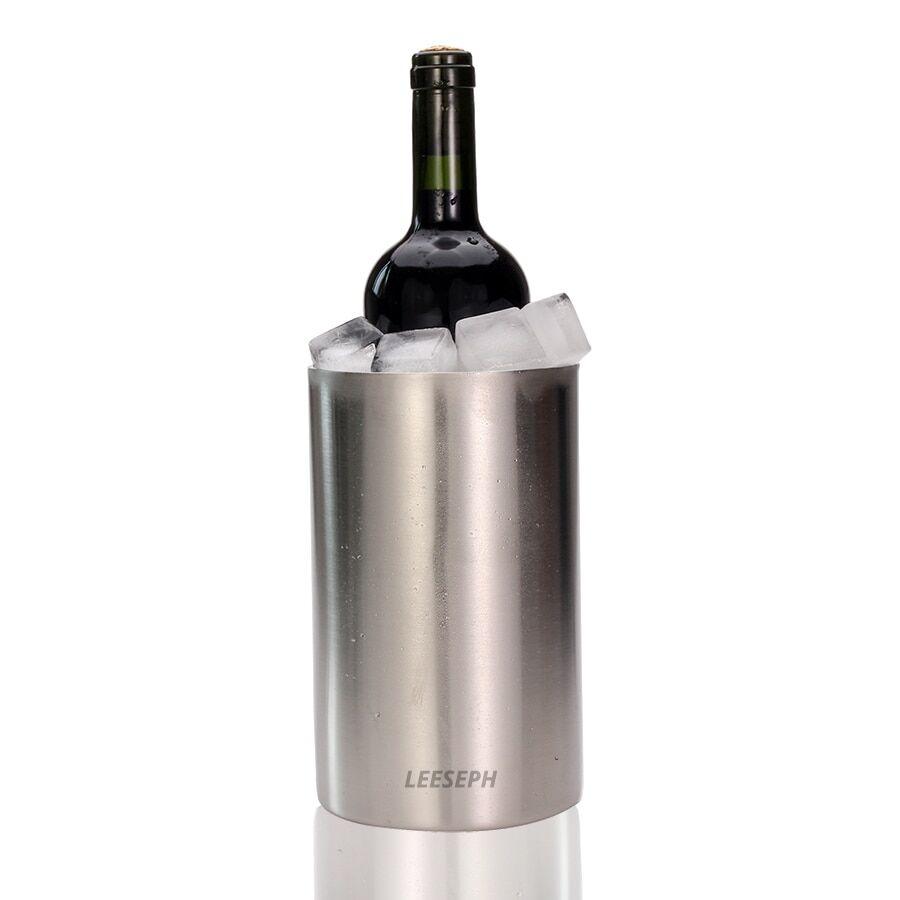 AliExpress Refroidisseur à vin-seau à glace Double paroi en acier inoxydable-utilisation polyvalente comme