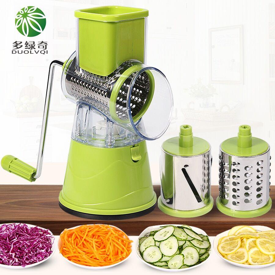 AliExpress Duolvqi — Coupe-légumes manuel multifonctionnelle, mandoline ronde, accessoires de cuisine, gadgets