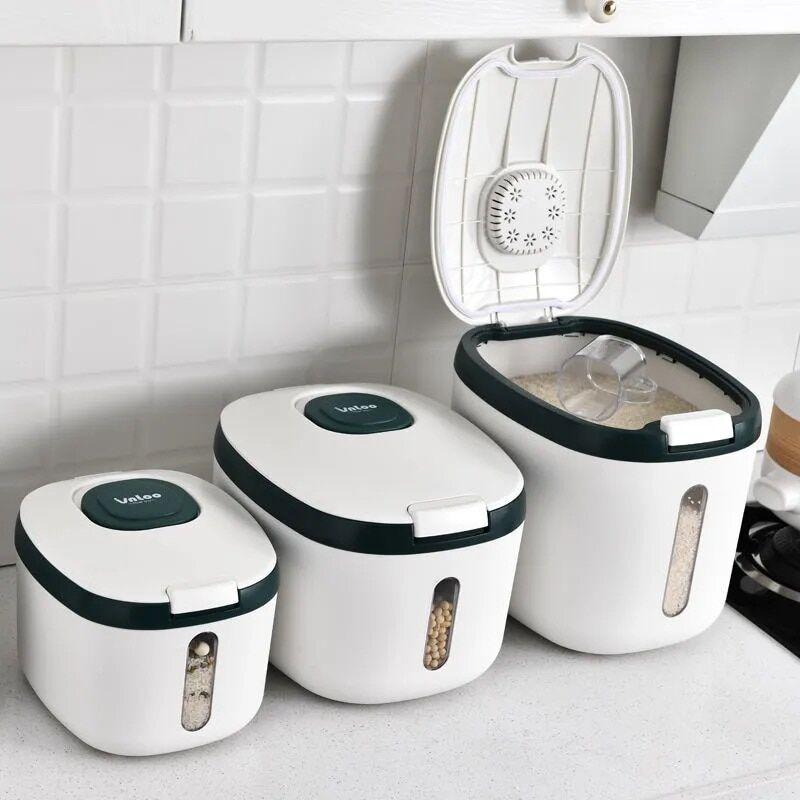 AliExpress Conteneur de cuisine 5KG 10KG seau Nano boîte de riz étanche à l'humidité, pot scellé de Grain,