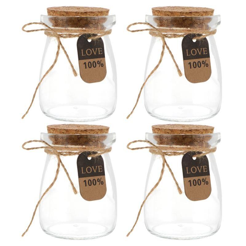 AliExpress Bouteilles en verre de lait de 100ML avec couvercle en bois, 10 pièces, résistantes à la chaleur,