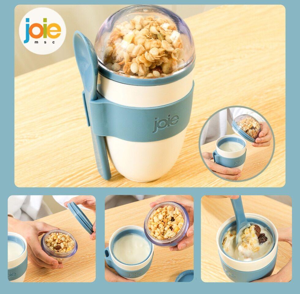 JOIE – tasse de petit déjeuner Portable, multifonction, sans BPA, pour céréales, noix, yaourt,