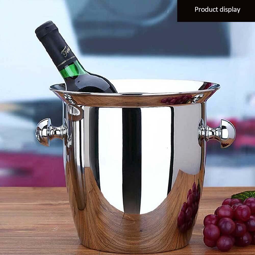 AliExpress Seau à Champagne en acier inoxydable 2l/5l, épais, vin rouge, refroidisseur pour Bar d'hôtel