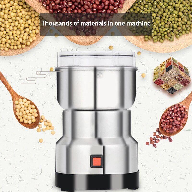 AliExpress Moulin à café électrique en acier inoxydable, prise EU/prise UK/US/prise CN, herbes, épices, noix,