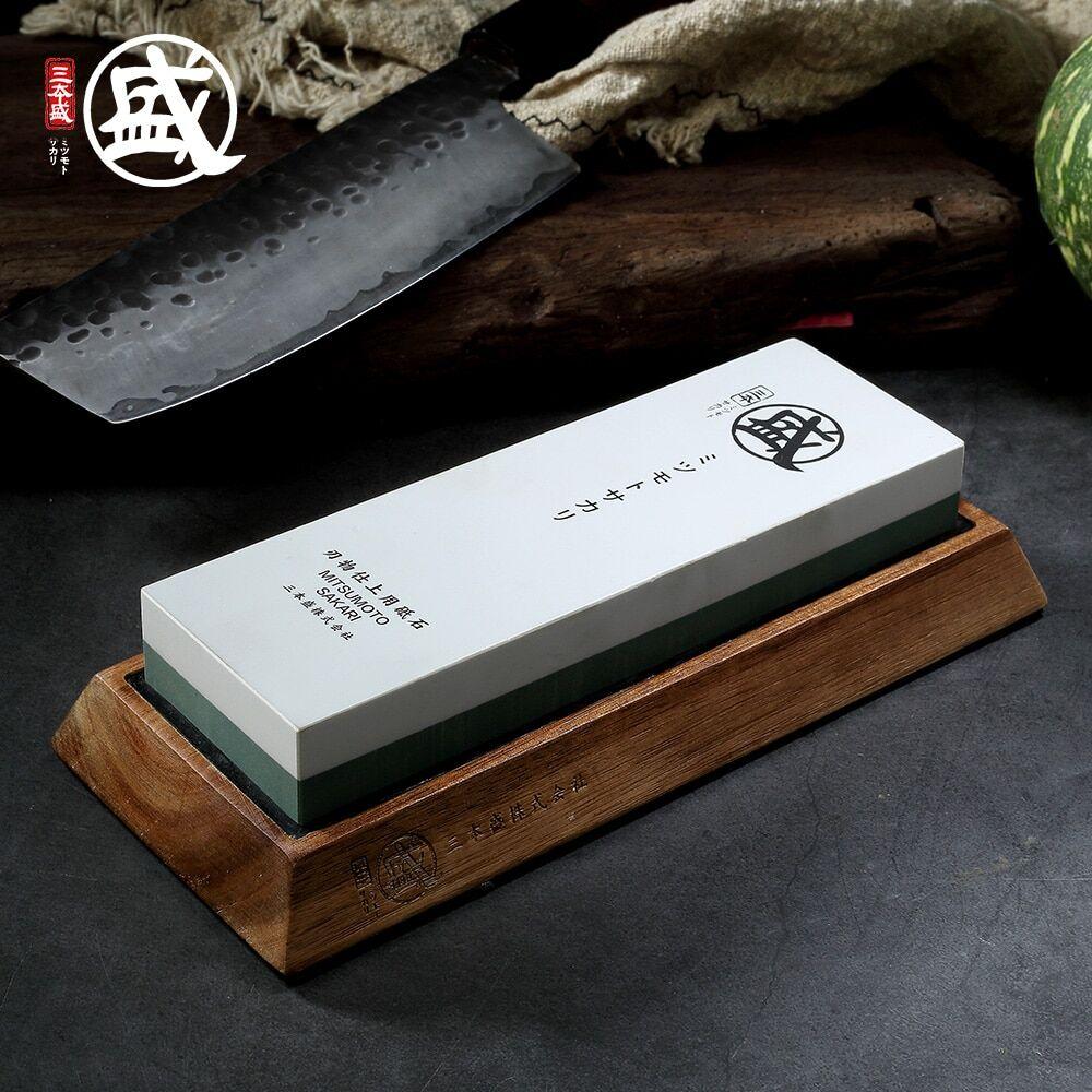 AliExpress MITSUMOTO SAKARI – pierre à aiguiser japonaise Double face pour couteaux, grain 1000 3000 8000