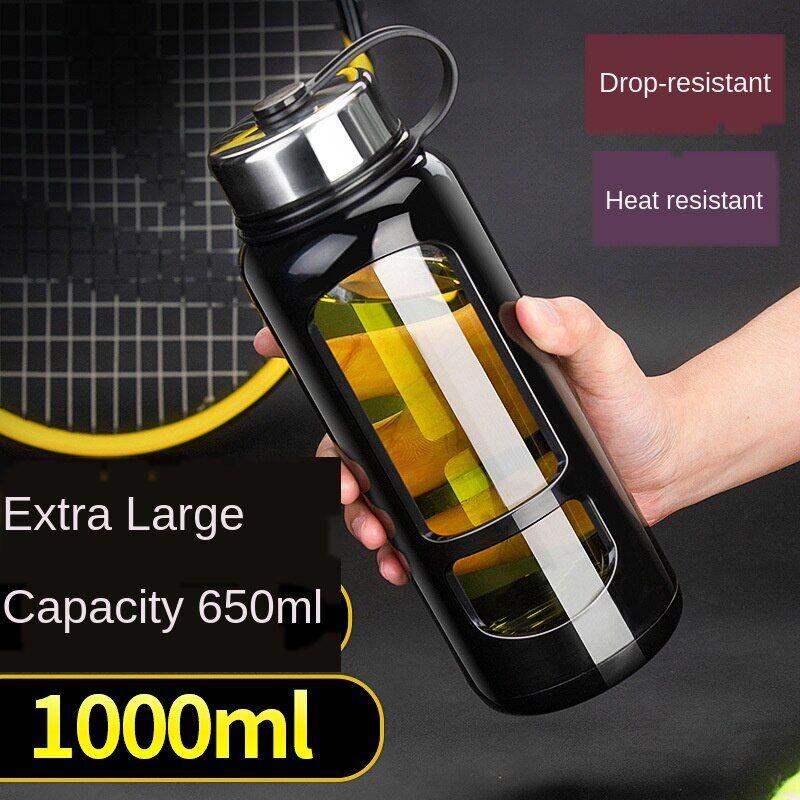 AliExpress Gourde en verre étanche pour activités sportives en plein air, contenant pour conserver de l'eau,