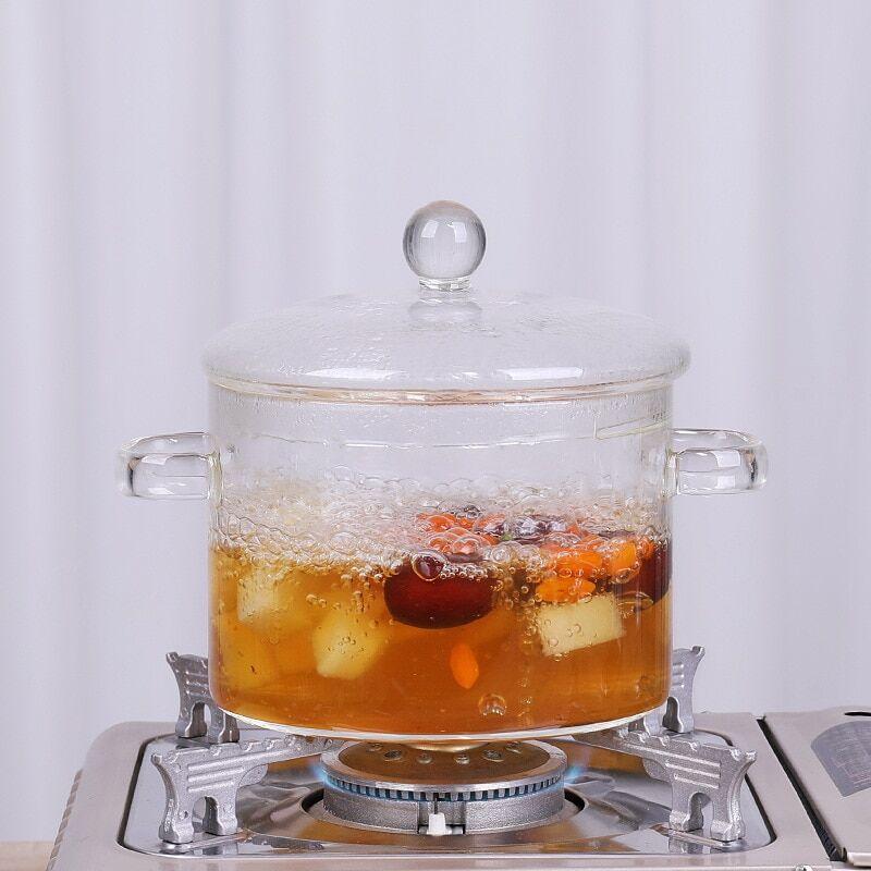 AliExpress Casserole en verre pour la cuisine, Mini Pot à soupe Transparent, bol à nouilles, cuisinière, outils