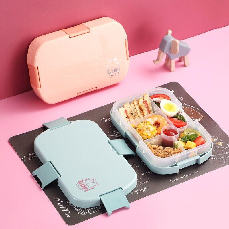 AliExpress TUUTH Ins boîte à déjeuner micro-ondes plusieurs grilles, stockage des aliments, boîte à Bento